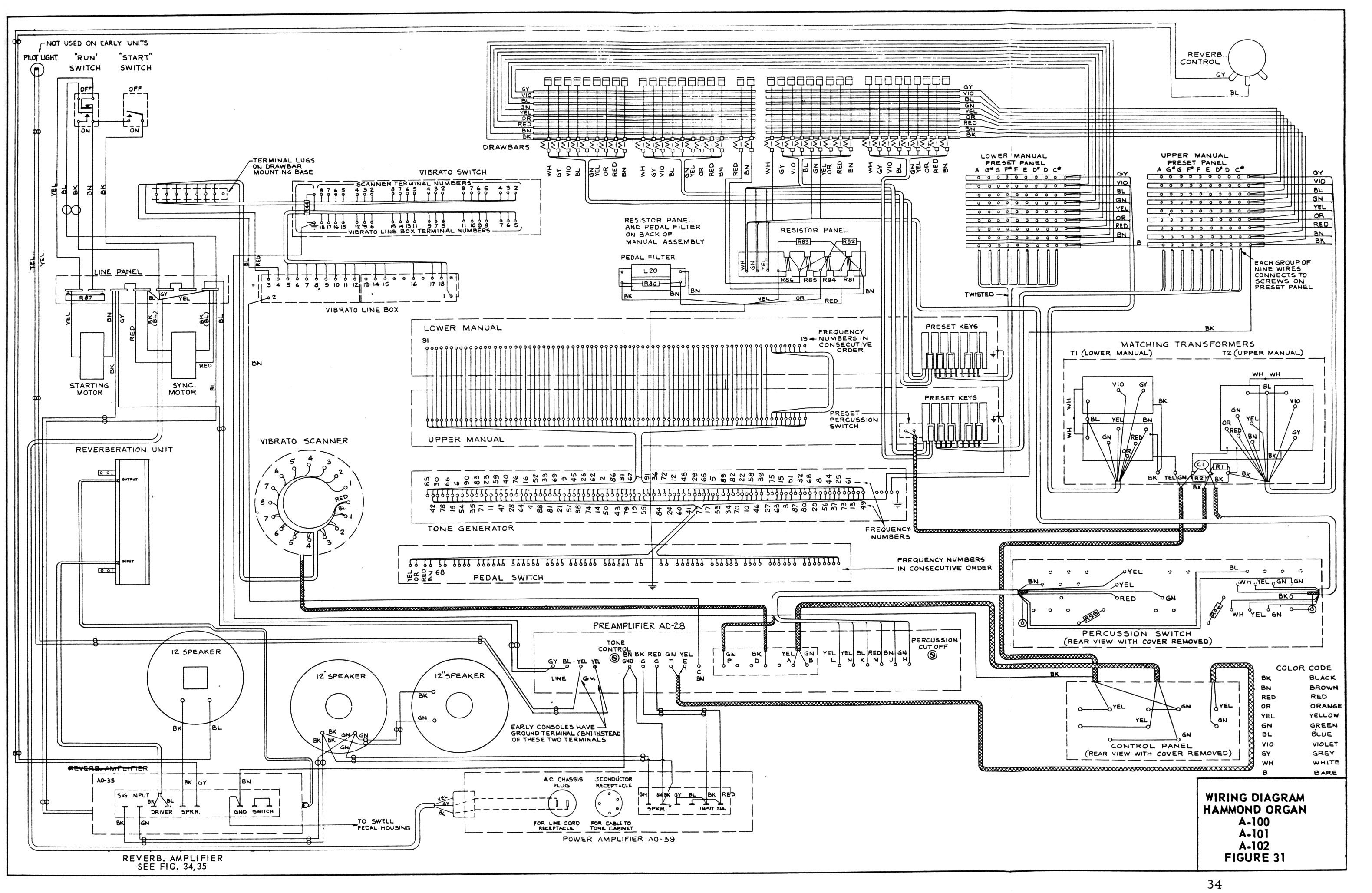 A 100 Service Manual Wiring Schematic In New 2