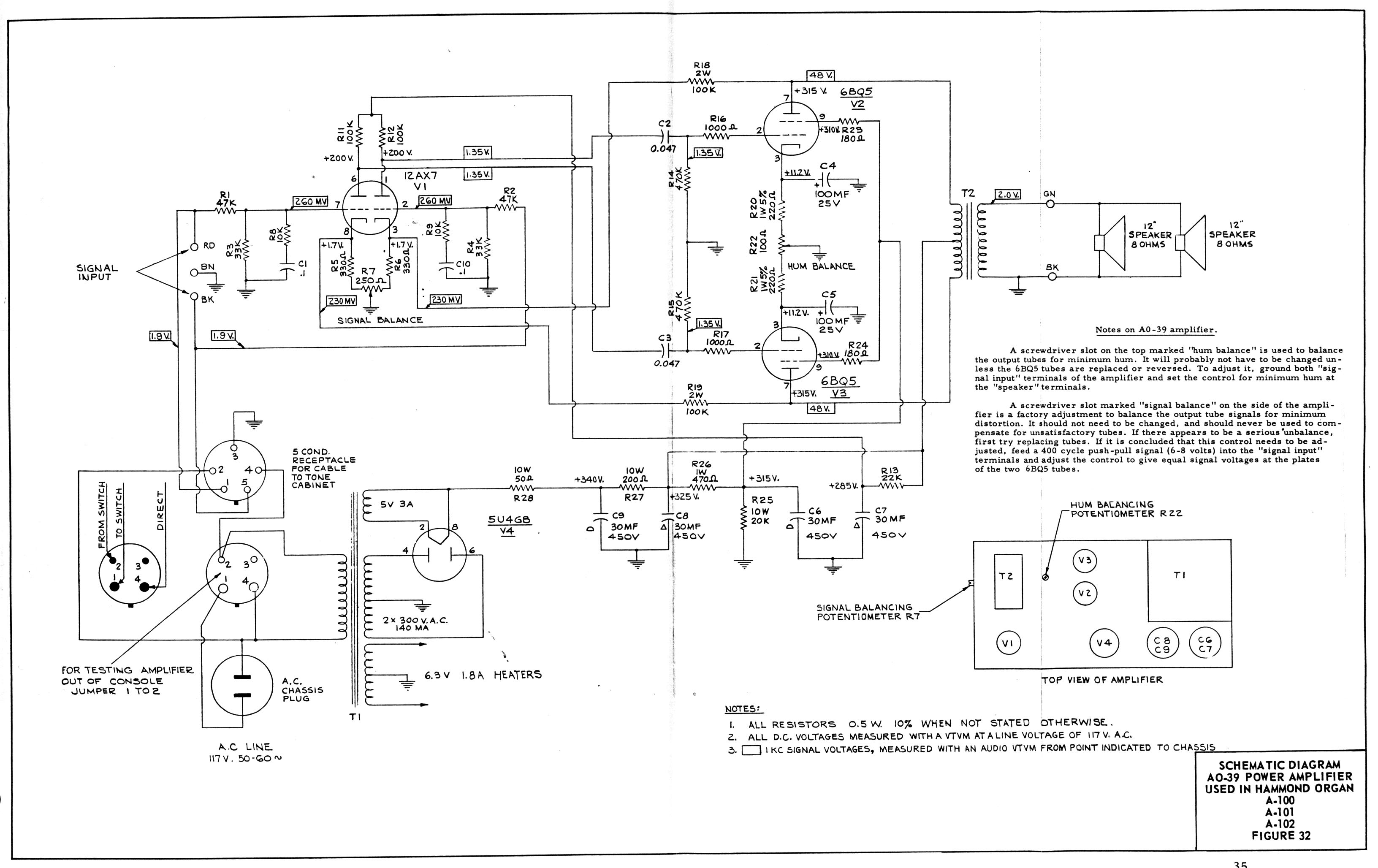 schem3 a 100 service manual hammond transformer wiring diagram at et-consult.org