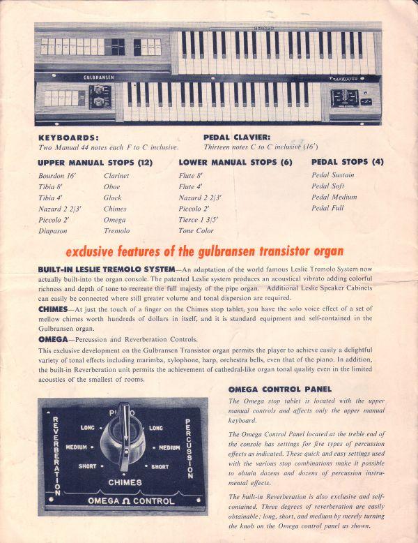 Gulbranson Organs Page