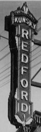 Redford Theatre's original vertical marquee