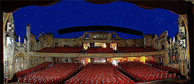 Click here to download a 1024 x 444 JPG image showing a panoramic view of the auditorium as viewed from the stage.