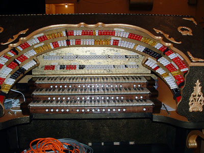 Click here to download a 2048 x 1536 JPG image showing the stop sweep of the 3/15 Mighty WurliTzer installed at Williams High School in Burlington, North Carolina.