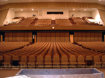 Click here to download a 2048 x 1536 JPG image looking toward the rear of the auditorium of Williams High School in Burlington, North Carolina.