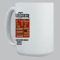 Click here to order T-shirts, Hats, Coffee Mugs and Mouse Pads featuring the Mighty MidiTzer screenshot - MidiTzer: Playing The Rialto WurliTzer Virtually Every Day!