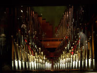 Click here to download a 2576 x 1932 JPG image showing one of the two pipe chambers comprising the San Sylmar 4/74 Mighty Wurlitzer Theatre Pipe Organ.