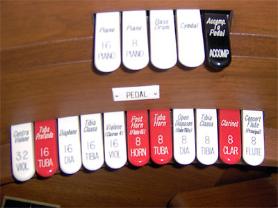 Click here to download a 2048 x 1536 JPG image showing the Pedal Stops of the Mighty Allen.