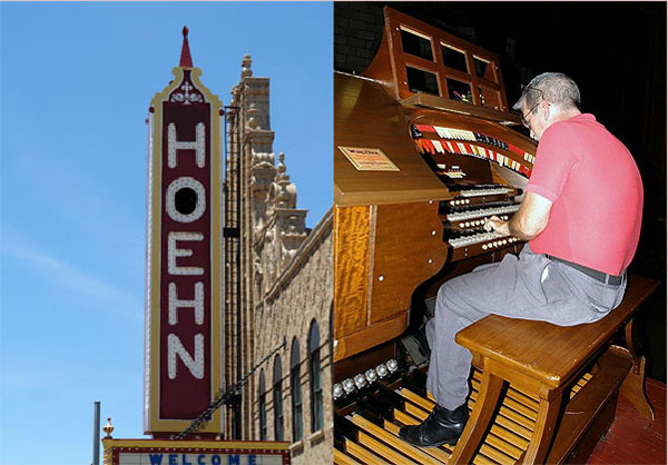 Click here to listen to Tom Hoehn playing the 3/10 Mighty WurliTzer Theatre Pipe Organ installed at the Palace Theatre in Marion, Ohio.
